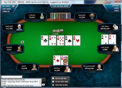 Software de torneio de poker livre